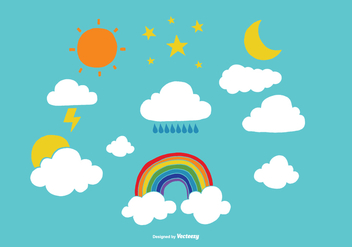 Weather and Sky Vectors - vector #368453 gratis