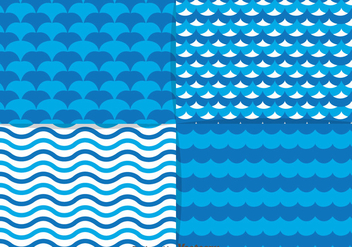 Blue Water Element Pattern - Free vector #368463