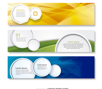 Business banner set - vector gratuit #368493
