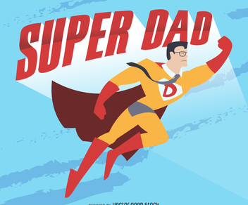 Super dad drawing - vector gratuit #368503