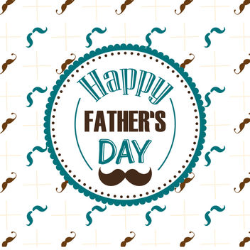 Father's Day moustache pattern - vector #368513 gratis