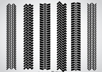 Tire Marks Vector Set - Free vector #368563