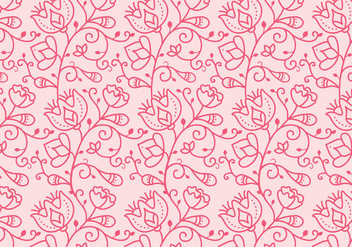 Floral Outline Pattern - vector #368673 gratis