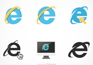 Free Vector Internet Explorer Set - vector gratuit #368693