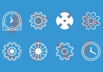 Free Clock Parts Vector Graphic 1 - Kostenloses vector #368713