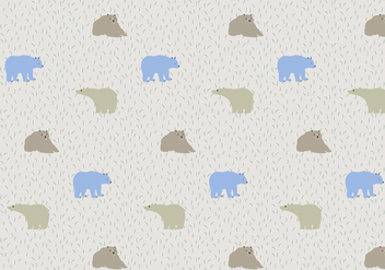 Bear Pattern Background - vector #368733 gratis