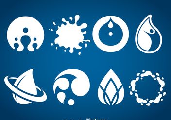 Water Icons Vector - Free vector #368743