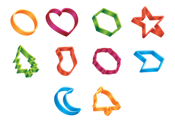 Free Cookie Cutter Vector - vector gratuit #368813