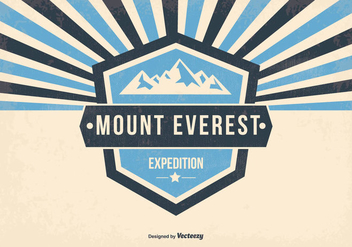 Mount Everest Retro Illustration - vector gratuit #368833