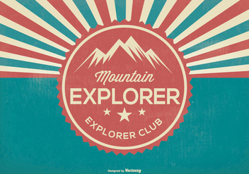 Mountain Explorer Retro Illustration - vector gratuit #368853