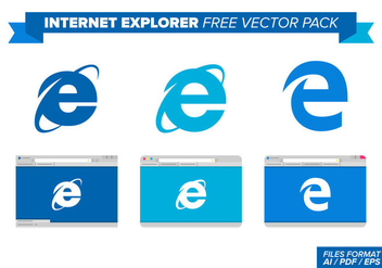 Internet Explorer Free Vector Pack - Kostenloses vector #368893