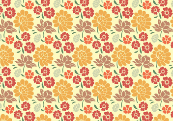 Floral Decorative Pattern - Free vector #368933
