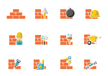 Free Bricklayer Vectors - Free vector #369053