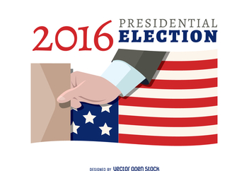 2016 election voting banner - vector gratuit #369193