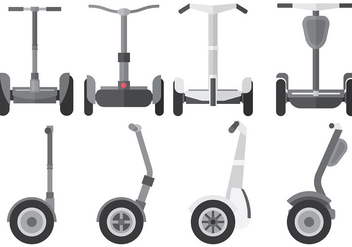 Free Segway Icons Vector - Free vector #369303