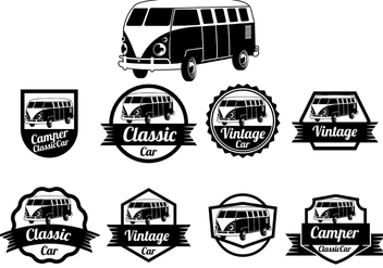 VW Camper Vector Badges - бесплатный vector #369313