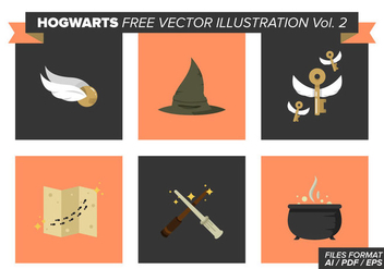 Hogwarts Free Vector Pack Vol. 2 - Kostenloses vector #369343
