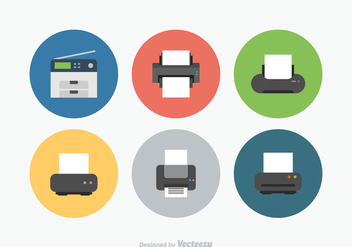 Free Printer Vector Icons - vector gratuit #369363