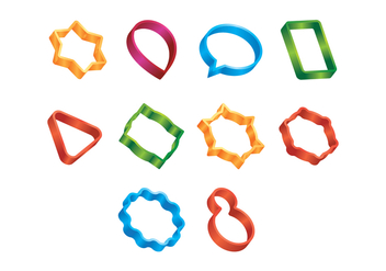 Free Vector Cookie Cutters - vector gratuit #369393