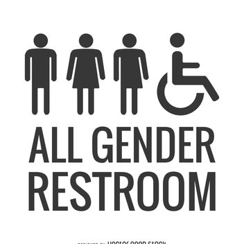 LGBT all gender restroom - Kostenloses vector #369463