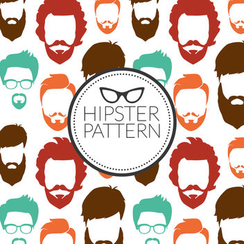 Hipster beard pattern - Free vector #369473