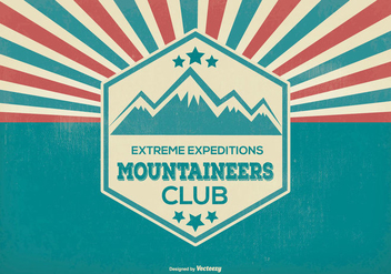 Mountaineer Explorer Retro Illustration - Free vector #369513