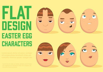Free Easter Egg Vector Characters - Kostenloses vector #369543