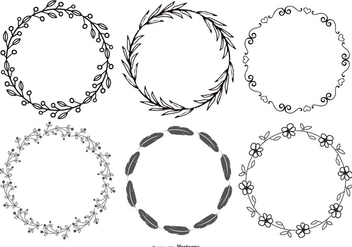 Cute Hand Drawn Style Frames - Free vector #369593