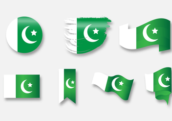 Pakistan Flag Icon Set B - vector gratuit #369613