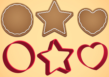 Cookie Cutter Vector Set A - vector #369623 gratis