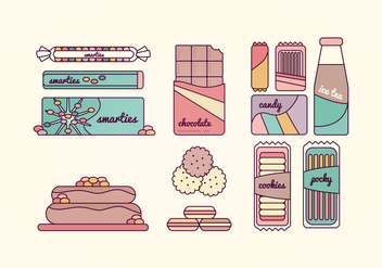 Sweets Vector Collection - vector #369753 gratis