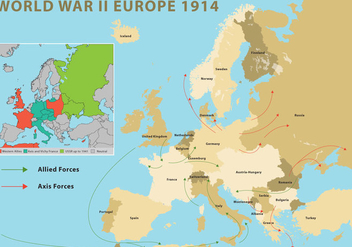World War II Europe - vector gratuit #369813