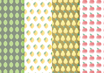 Vector Citrus and Fruit Pattern Set - vector gratuit #369823