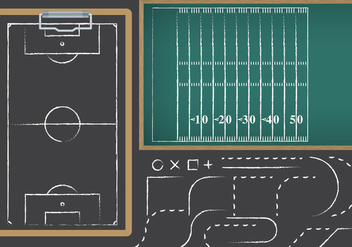 Football And Soccer Playbooks - Kostenloses vector #369833