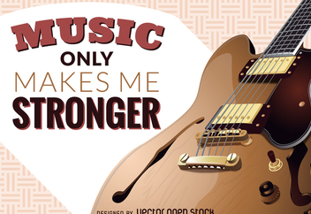 Music makes me stronger illustration - бесплатный vector #369873