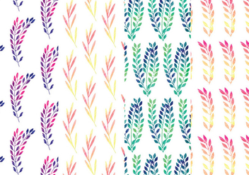 Rainbow Branch Vector Pattern Set - Free vector #369913