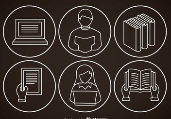 Ereader Outline Icons - vector gratuit #369983