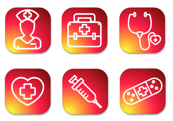Nurse Gradient Icons - vector gratuit #370013