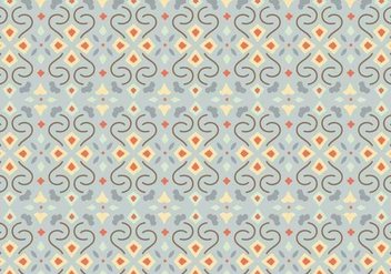 Floral Mosaic Pattern Background - vector gratuit #370033