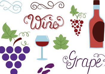 Free Grapes Vectors - бесплатный vector #370053