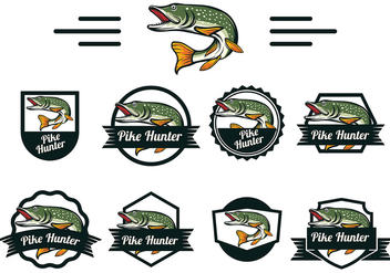 Pike Fish Vector - vector #370093 gratis
