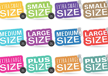 Clothes Size Titles - vector #370113 gratis