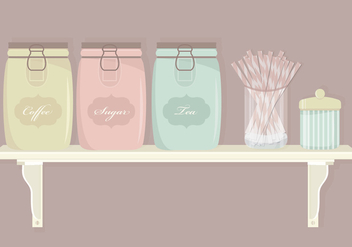 Kitchen Elements Vector Set - Free vector #370143