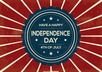 Retro Independence Day Illustration - vector gratuit #370283