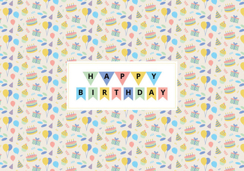 Birthday Icons Pattern - vector gratuit #370293