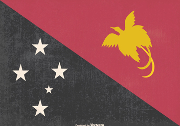 Old Papua, New Guinea Flag Illustration - бесплатный vector #370393