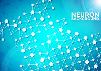 Neuron Background Vector Template - vector gratuit #370423