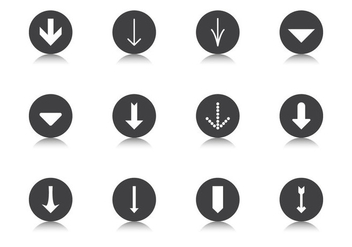 Degrade Arrow Button Vector Pack - vector #370463 gratis