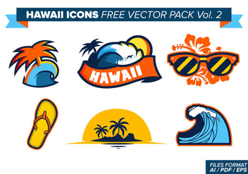 Hawaii Icons Free Vector Pack Vol. 2 - Free vector #370483