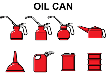 Free Oil Can Vector - Free vector #370503